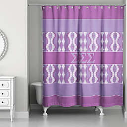 Sigma Sigma Sigma Shower Curtain in Purple