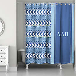 Alpha Delta Pi Shower Curtain in Navy/Light Blue