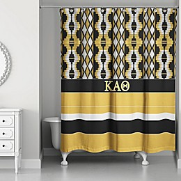 Kappa Alpha Theta Shower Curtain in Black/Gold