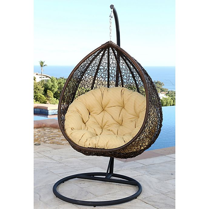 Alternate image 1 for Abbyson Living® Newport Outdoor Wicker Swing Chair