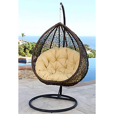 Abbyson Living® Newport Outdoor Wicker Swing Chair