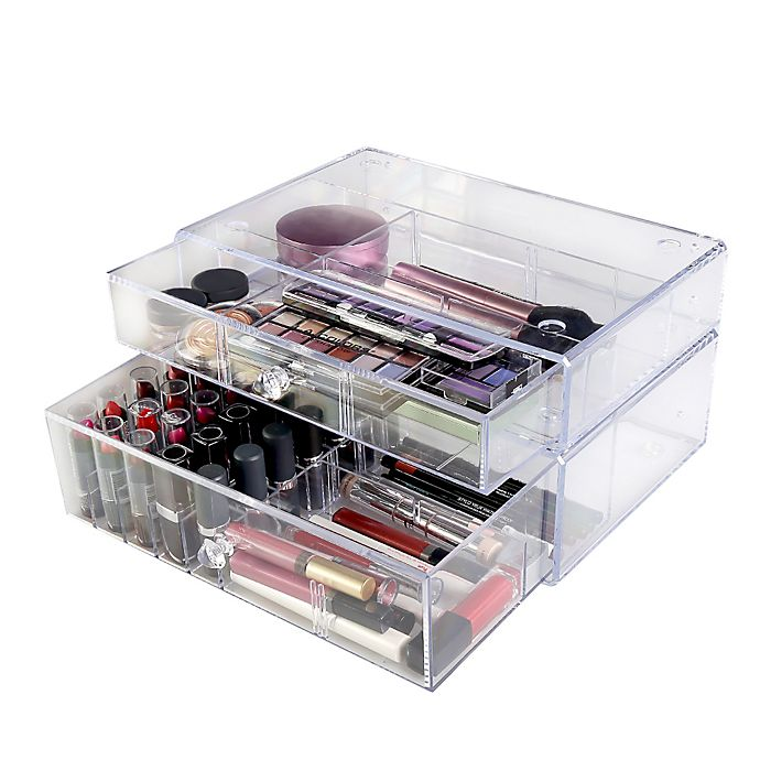 Alternate image 1 for Lori Greiner® Clear Stacking Cosmetic Organizer