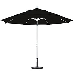 California 11-Foot Round Fiberglass Rib Market Umbrella in Sunbrella Fabric