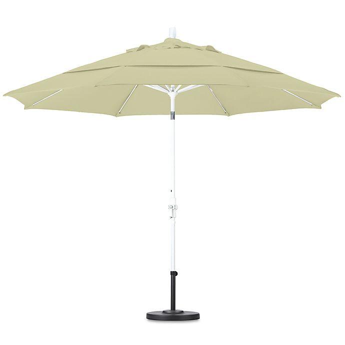 Alternate image 1 for California 11-Foot Round Fiberglass Rib Sunbrella Fabric Market Umbrella in Canvas