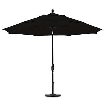 California Umbrella 11-Foot Round Fiberglass Ribbed Umbrella in Sunbrella Fabric