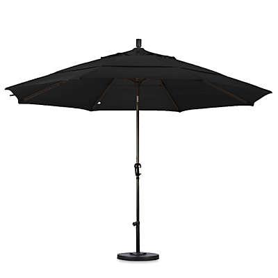 California Umbrella 11-Foot Auto Tilt Bronze Pole Sunbrella Fabric Market Umbrella