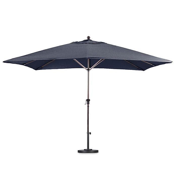Alternate image 1 for California 11-Foot Rectangle Aluminum Crank LiFoot Sunbrella Fabric Market Umbrella in Navy