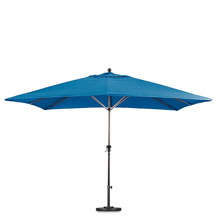 Alternate image 1 for California 11-Foot Rectangle Aluminum Crank LiFoot Market Umbrella in Sunbrella Fabric