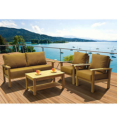 Amazonia Gillmore 4-Piece Patio Conversation Set