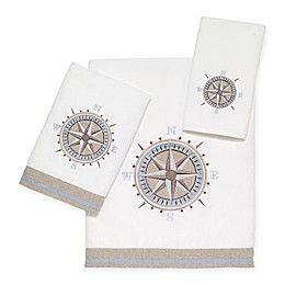 Avanti© Compass Bath Towel Collection in White