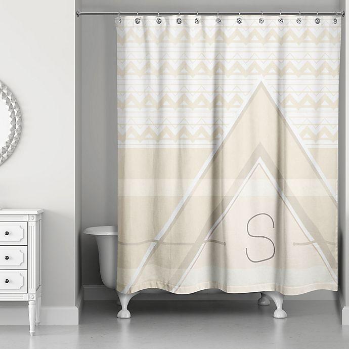Alternate image 1 for Geo Shower Curtain in Ivory/Cream