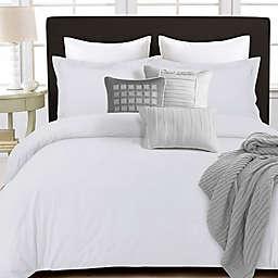 Tribeca Living 350-Thread-Count Cotton Percale Duvet Cover Set