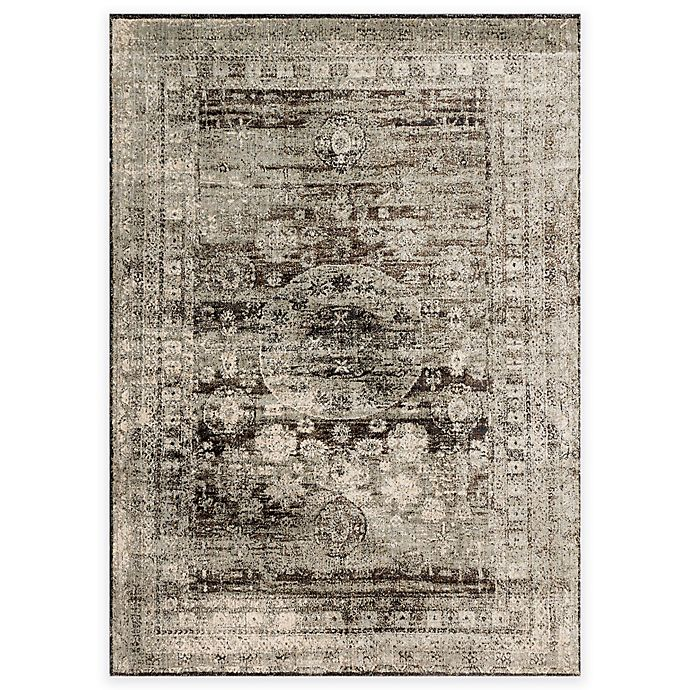Alternate image 1 for Loloi Rugs Anastasia Faded Medallion 2-Foot 7-Inch x 4-Foot Accent Rug in Granite