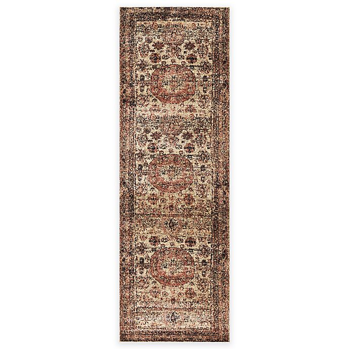 Alternate image 1 for Loloi Rugs Anastasia Faded Medallion 2-Foot 7-Inch x 8-Foot Runner in Champagne Multi
