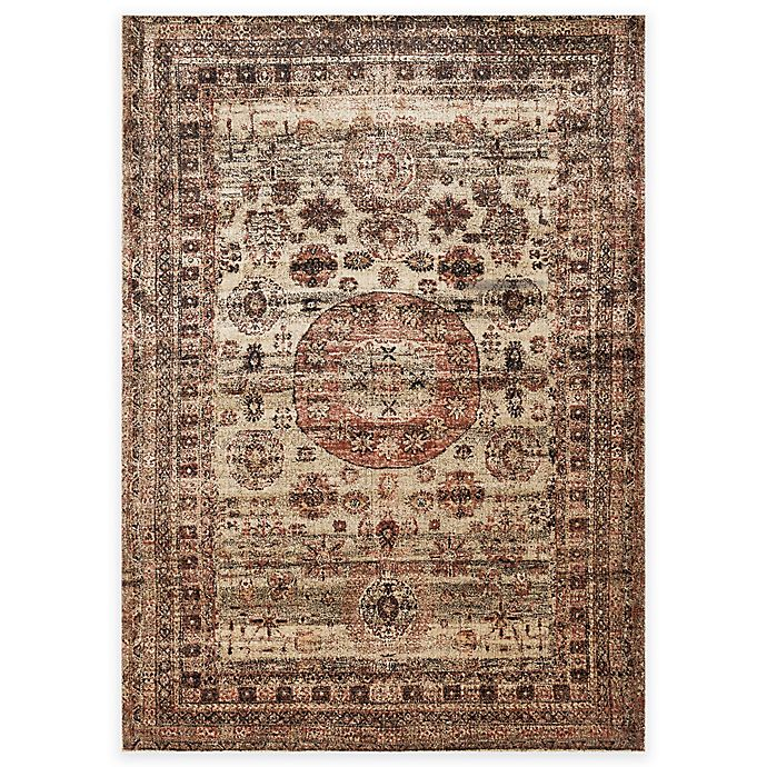 Alternate image 1 for Loloi Rugs Anastasia Faded Medallion 2-Foot 7-Inch x 12-Foot Runner in Champagne Multi