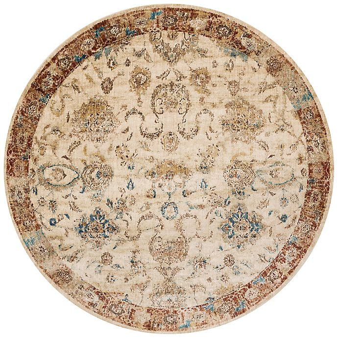 Alternate image 1 for Loloi Rugs Anastasia Adora 9-Foot 6-Inch Round Area Rug in Ivory/Rust