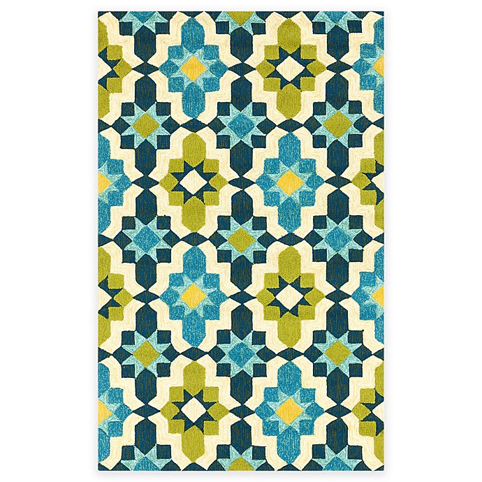 Alternate image 1 for Surya Tennent 2-Foot x 3-Foot Indoor/Outdoor Accent Rug in Lime
