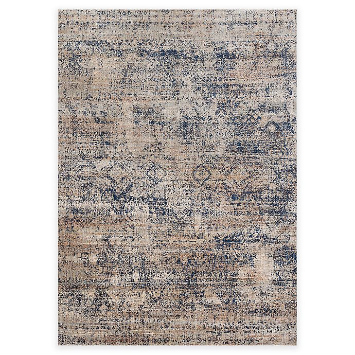 Alternate image 1 for Loloi Rugs Anastasia Canvas 2-Foot 7-Inch x 10-Foot Runner in Blue