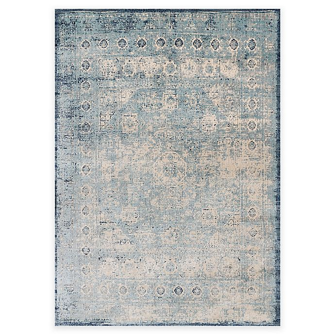 Alternate image 1 for Loloi Rugs Anastasia Challis 9-Foot 6-Inch Round Area Rug in Blue/Ivory