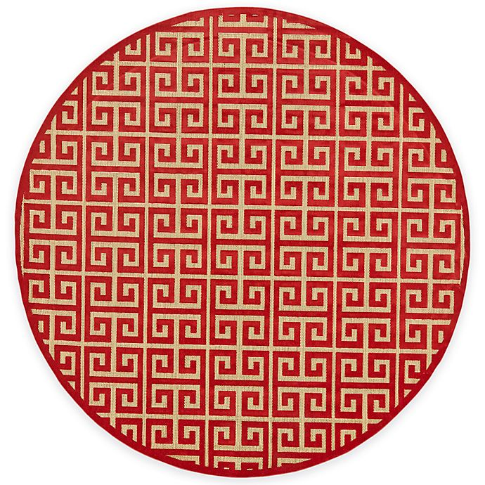 Alternate image 1 for Feizy Tahla I 7-Foot 6-Inch x 7-Foot 6-Inch Round In Tan/Red