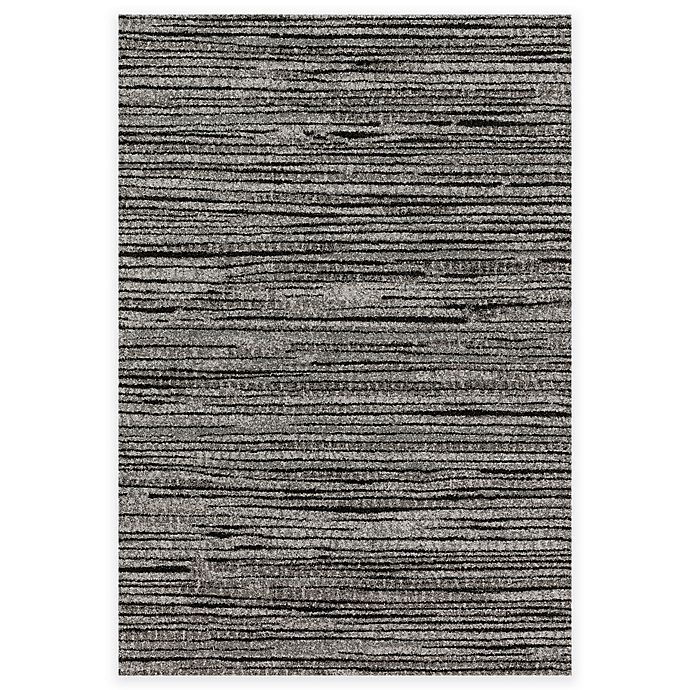 Alternate image 1 for Loloi Rugs Emery Lines 3-Foot 10-Inch x 5-Foot 7-Inch Area Rug in Grey/Black