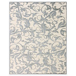 Feizy Penelope Rug in Cream/Silver
