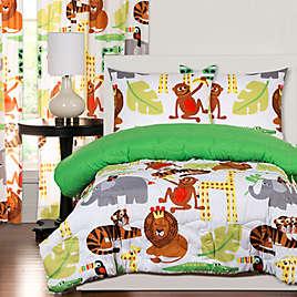 Crayola Jungle Love Reversible Comforter Set