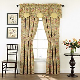 Waverly® Swept Away Rod Pocket Window Curtain Panel Pair and Valance in Berry