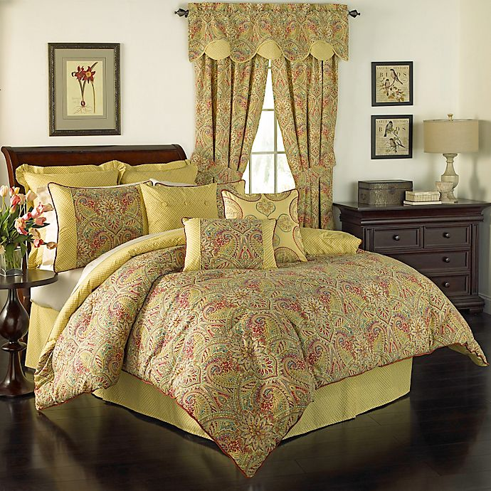 Alternate image 1 for Waverly® Swept Away Reversible Comforter Set in Berry