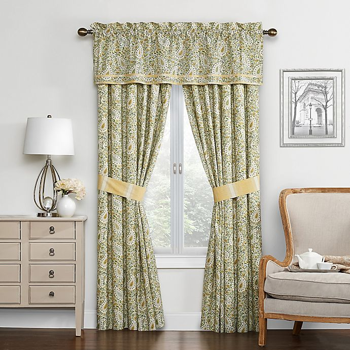 Alternate image 1 for Waverly® Paisley Verveine Lined Cotton Valance in Spring