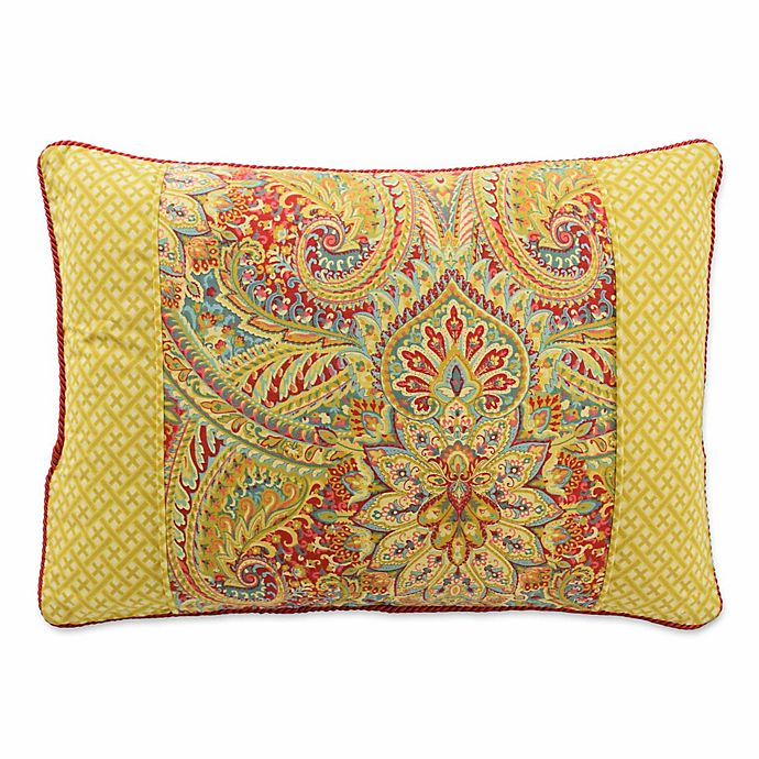 Alternate image 1 for Waverly® Swept Away Reversible Rectangle Throw Pillow in Berry