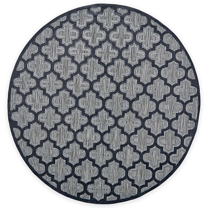 Alternate image 1 for Feizy Tahla II 7-Foot 6-Inch x 7-Foot 6-Inch Round In Black/Charcoal