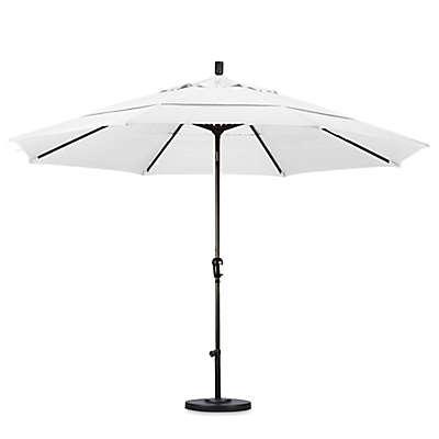 California Umbrella 11-Foot Auto Bronze Pole Tilt Market Umbrella