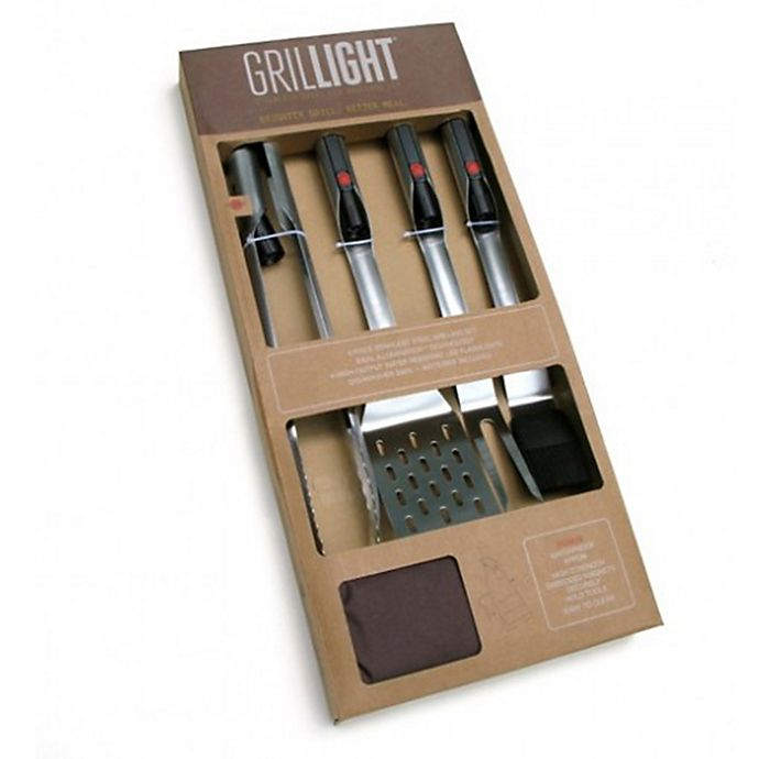 Alternate image 1 for Grillight 4-Piece BBQ Tool Gift Set