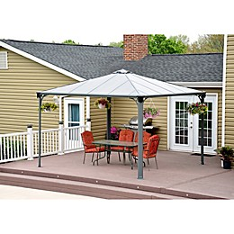 Palram Palermo 12-Foot x 12-Foot Gazebo in Grey