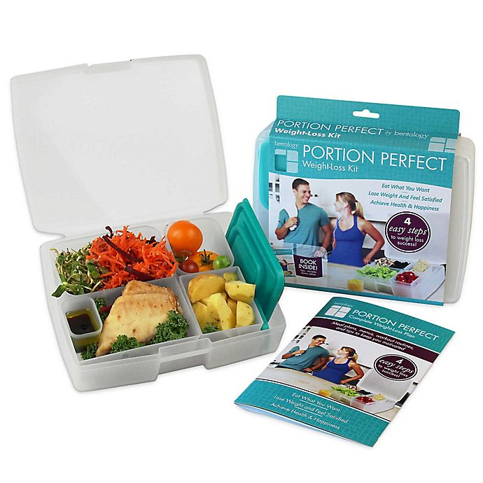 Alternate image 1 for Bentology® Portion Perfect Weight Loss Kit in Clear/Turquoise