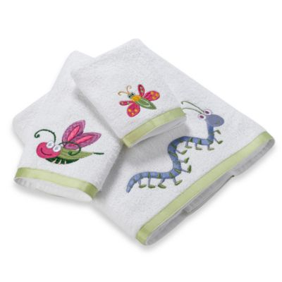 Bugs & Leaves Bath Towels | Bed Bath & Beyond