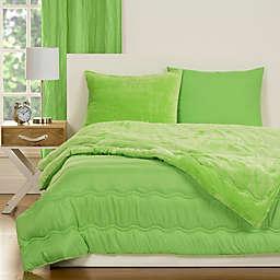 Crayola® Playful Plush 2-Piece Twin Comforter Set in Green