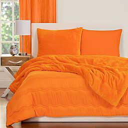 Crayola® Playful Plush 3-Piece Full/Queen Comforter Set in Orange