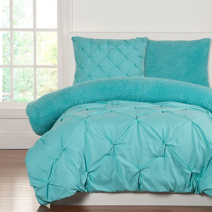 Alternate image 1 for Crayola® Playful Plush 2-Piece Twin Comforter Set in Robins Egg Blue