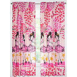 Crayola® Twinkle Toes 84-Inch Rod Pocket Window Curtain Panel in Pink