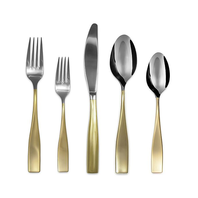 Alternate image 1 for Gourmet Settings Moments Eternity Flatware Collection in Gold