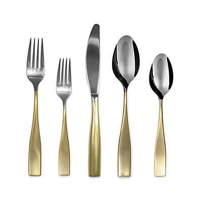 Gourmet Settings Moments Eternity Flatware Collection in Gold