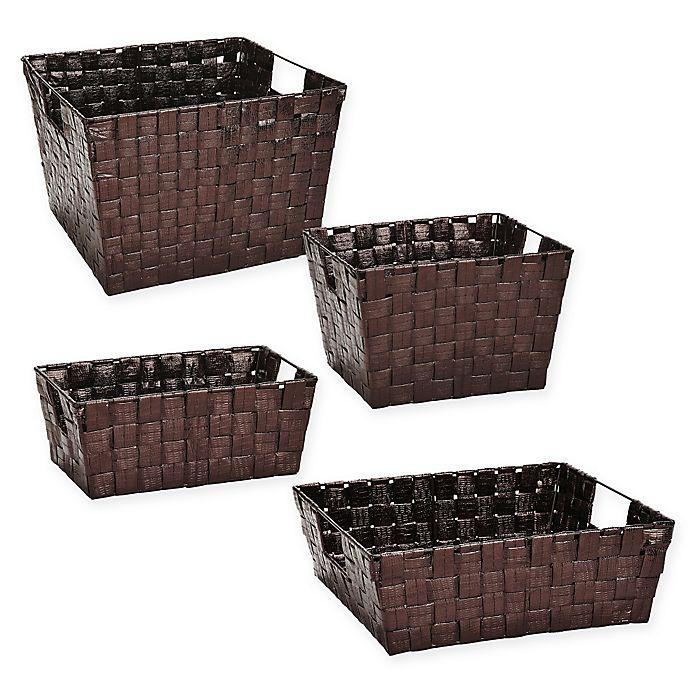 Alternate image 1 for Woven Polypropylene Basket in Bronze