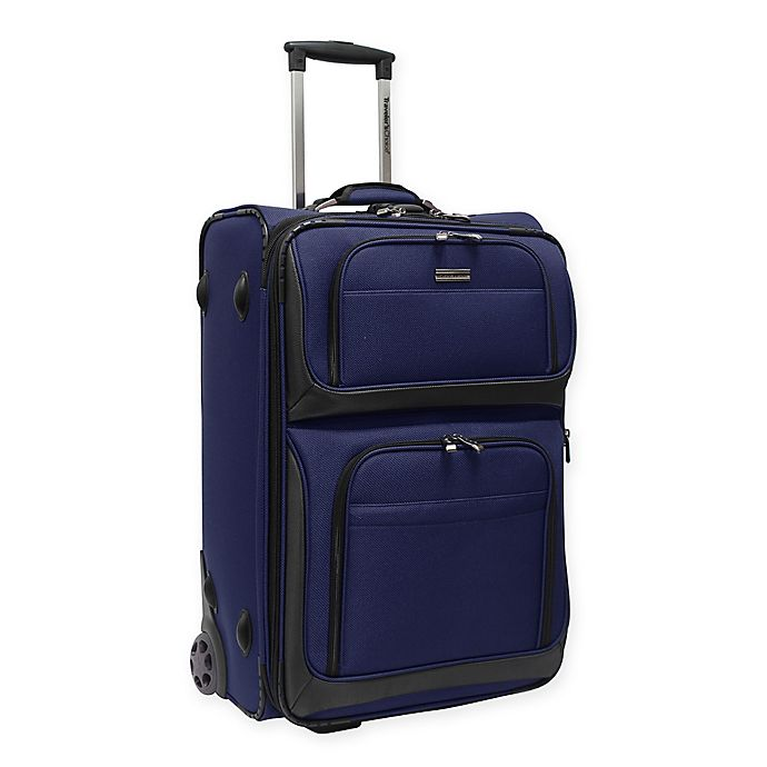 Alternate image 1 for Traveler's Choice® Conventional II 26-Inch Rugged Rollaboard Suitcase in Navy