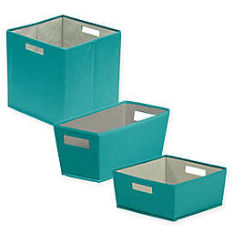 b+in® Fabric Storage Bin in Teal