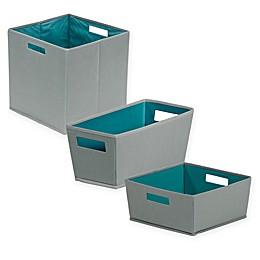 b+in® Castlerock Fabric Storage Bin in Dark Grey