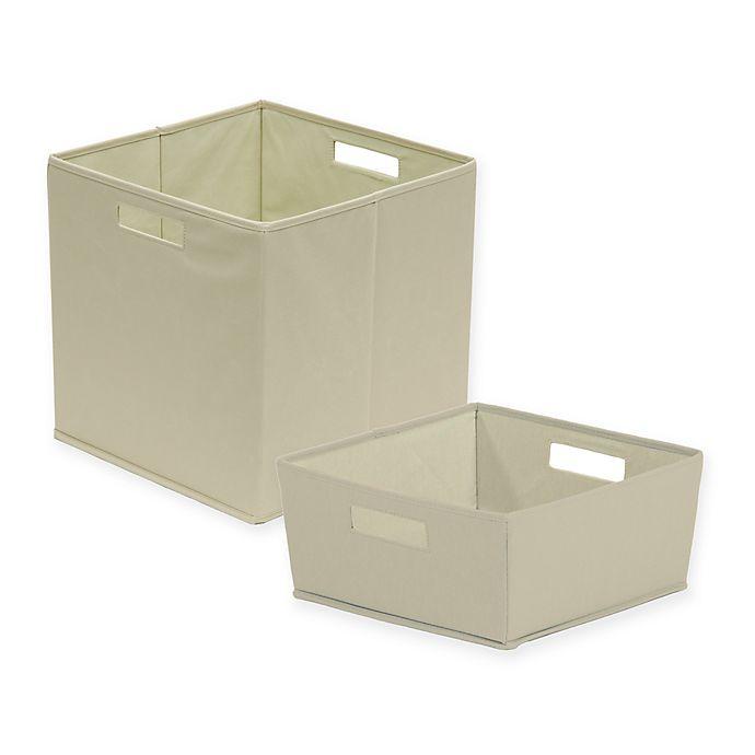 Alternate image 1 for b+in® Fabric Storage Bin in Light Grey