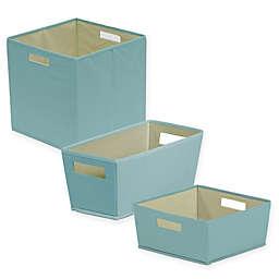 b+in® Pastel Turquoise Fabric Storage Bin
