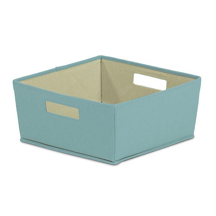 Alternate image 1 for b+in® Pastel Turquoise Fabric Half Storage Bin